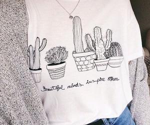 fashion, plants, and shirt image