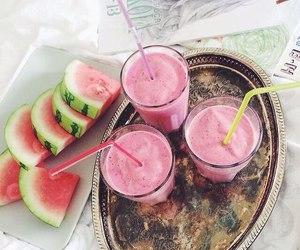 smoothie, watermelon, and cute image