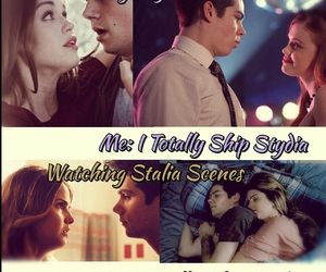 teen wolf, stydia, and stalia image