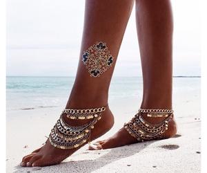 beach, beautiful, and style image