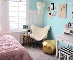 blue, room decor, and cute image