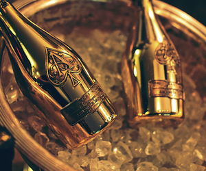 luxury, champagne, and gold image