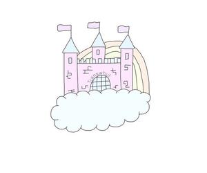 overlay, castle, and rainbow image