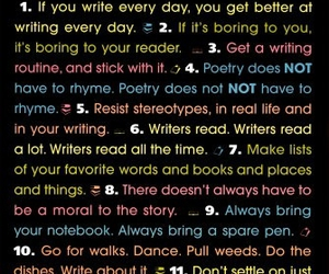 writing, rules, and write image