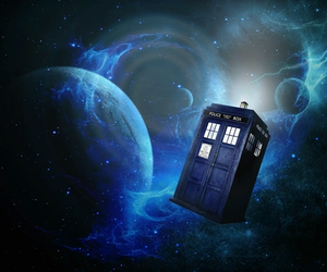 tardis, doctor who, and space image