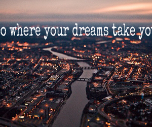 city lights, dreams, and inspiration image