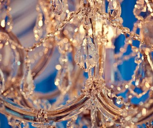 gold chandelier, diamonds, and gold image