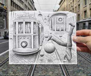 art and train image