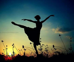 ballet, dance, and sunset image