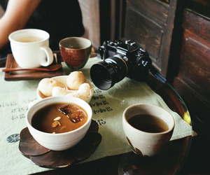 coffee, camera, and food image