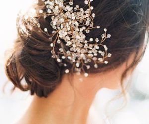 bouquet, hairstyle, and wedding image