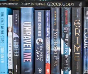 books, percy jackson, and divergent image