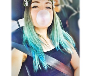 blue, bluehair, and bubble image
