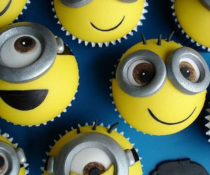 cupcake, minions, and despicable me image