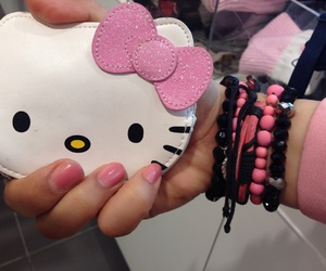 hello kitty, pink, and moniker image