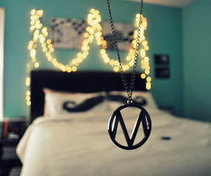 the maine, bed, and lights image