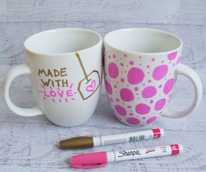 diy, mug, and pink image