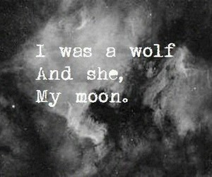 wolf, moon, and quotes image