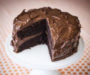 cake, chocolate, and yum image