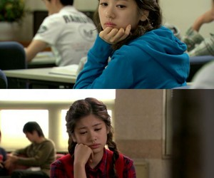 blue, jung so min, and red image