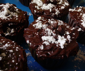 chocolate, cupcakes, and panqueques image