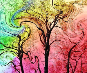 colour, happy, and tree image