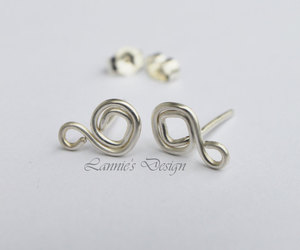 jewelry, sterling silver, and silver stud earrings image