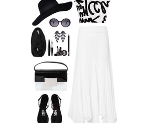 black and white, ootd, and fancy image