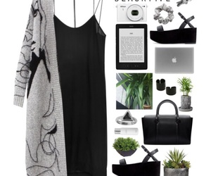 black dress, casual, and simple image