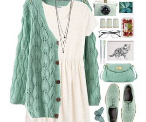 casual, green, and mint image
