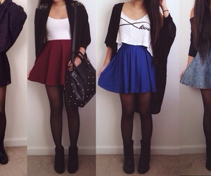 style, blue, and clothes image