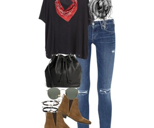 bag, boots, and denim image
