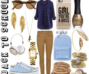blue, bronze, and fashion image