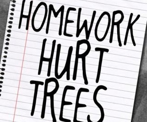 homework, tree, and hurt image