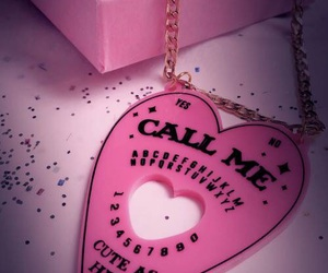pink, ouija, and necklace image