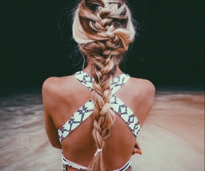 artsy, beauty, and blonde hair image