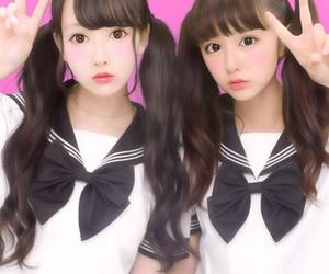 女の子, 美少女, and セーらー服 image