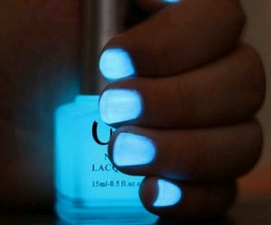 nails, blue, and neon image