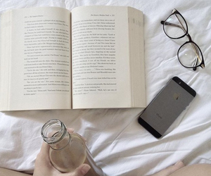 bookworm, coffee, and hipster image