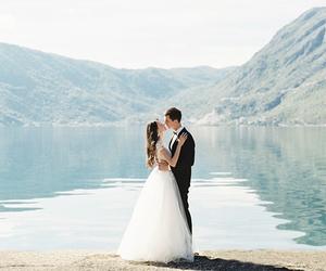 wedding, white, and couple image
