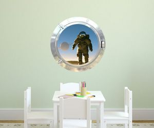 astronaut, decal, and 3d illusion image