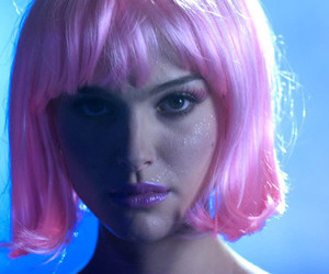 natalie portman and pink hair image