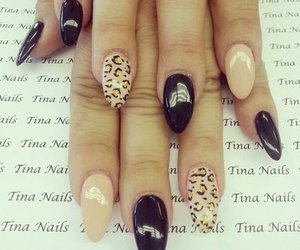 manicure, nail art, and gepard nails image