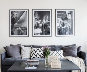 flowers, black, and decor image