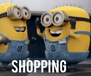minions, shopping, and funny image