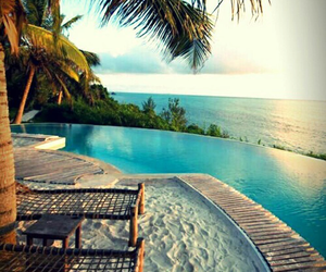 beach, pool, and chillin image