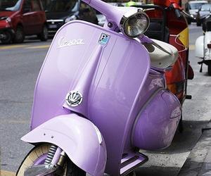 purple, Vespa, and vintage image