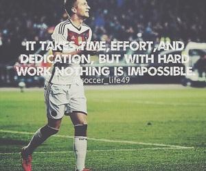 soccer, football, and hard work image