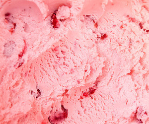 pink, ice cream, and food image