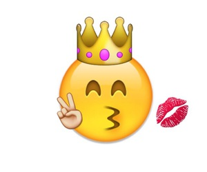 kiss, Queen, and emoji image